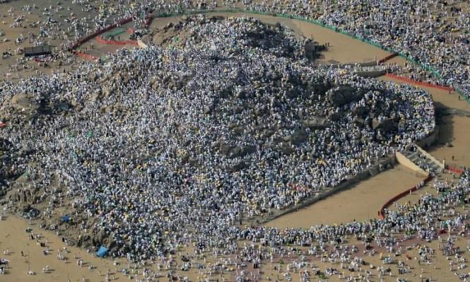 الحجاج على صعيد عرفات (أ ف ب)