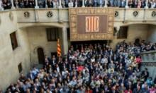 رؤساء بلديات بإسبانيا يتظاهرون دعما لاستقلال كاتالونيا