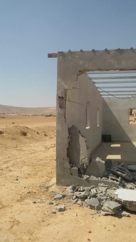 هدم منزل في قرية باط الصرايعة بالنقب