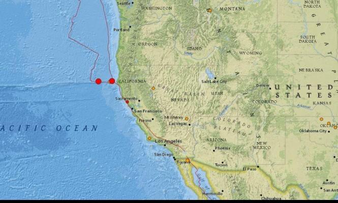 هزتان أرضيتان بقوة 5.8 ضربتا قبالة كاليفورنيا