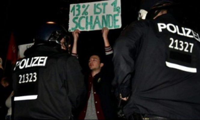 """ألمان يتظاهرون احتجاجا على فوز حزب """"البديل لألمانيا"""""""