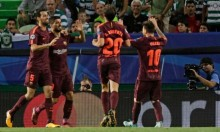 هدف ذاتي يمنح برشلونة الفوز على سبورتينغ لشبونة