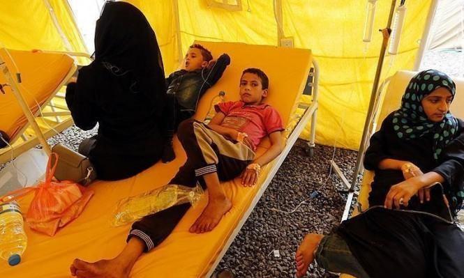 755 ألف مصاب بالكوليرا في اليمن