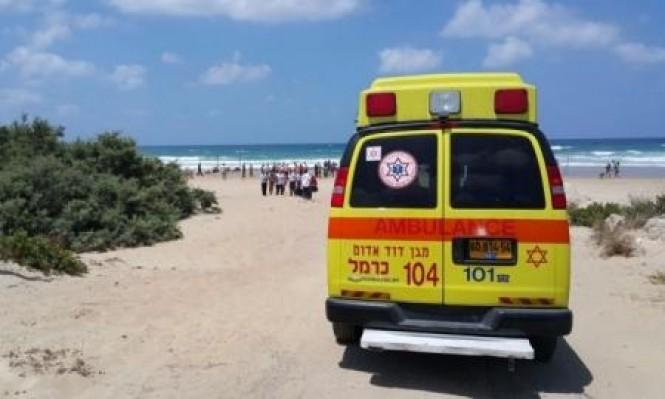 حيفا: إنقاذ رجل من الغرق