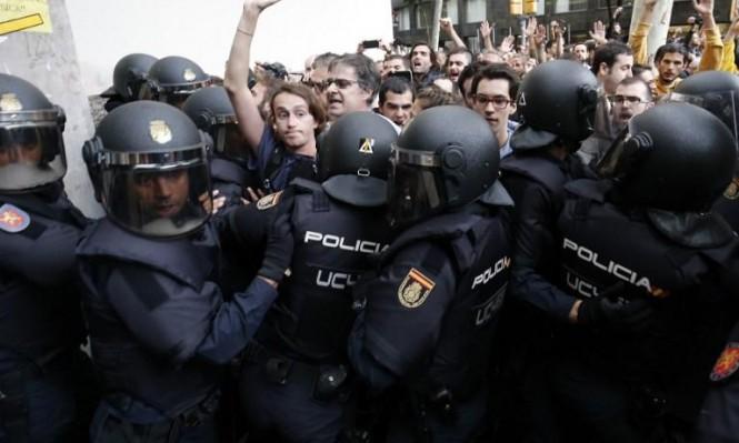 مواجهات في كاتالونيا: 337 مصابًا إثر مواجهات مع الشرطة