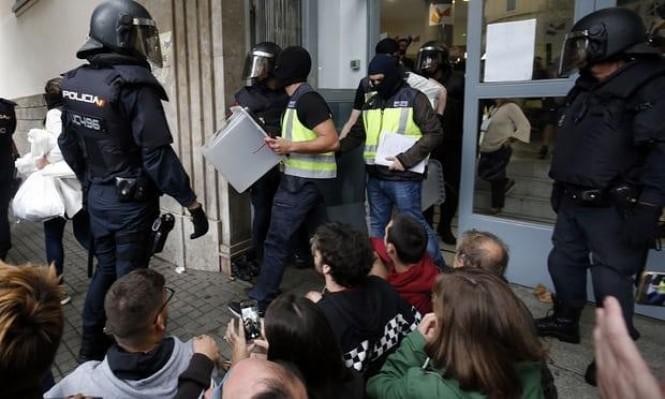 مواجهات في برشلونة على وقع استفتاء كاتالونيا