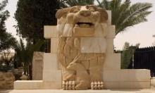 ترميم تمثال سوري بعد أن دمرته داعش في تدمر