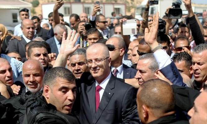 أثناء وصول رئيس الوزراء الفلسطيني رامي الحمد الله لغزة