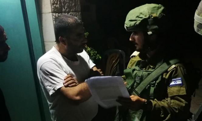 توغل بغزة اعتقالات وإخطار بهدم منزل الشهيد الجمل بالضفة