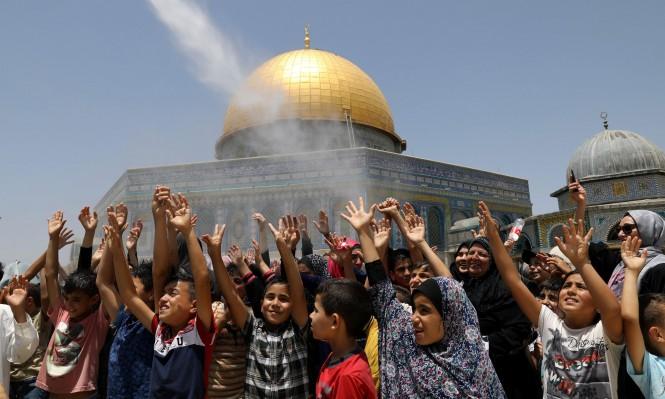الاحتلال يمنع الأطفال الفلسطينيين من اللعب بساحات الأقصى