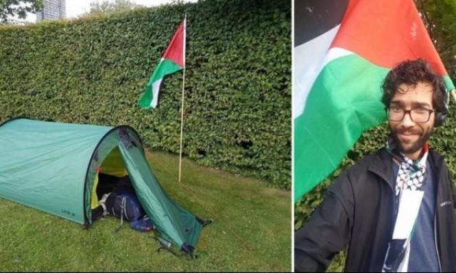 لليوم الـ60: بنجامين لادرا يواصل السير نحو فلسطين