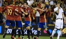 إسبانيا تفوز على ألبانيا وتبلغ نهائيات كأس العالم