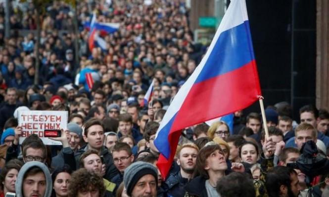 تظاهرة لمعارضين في روسيا تطالب بوتين بالتنحي