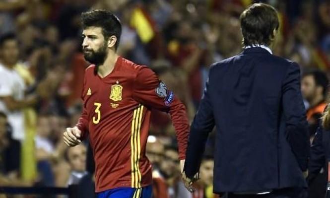 بيكيه يغيب عن المباراة الأخيرة لإسبانيا بتصفيات المونديال
