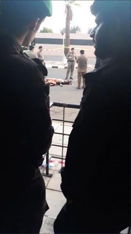 صورة لمنفذ الهجوم بعد مقتله نقلا عن نشطاء على صفحات التواصل الاجتماعي