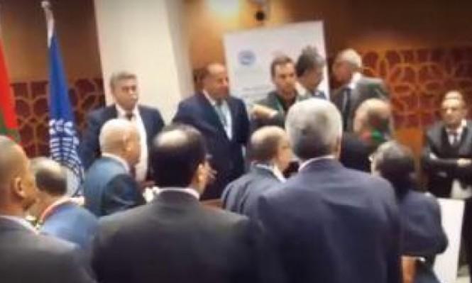 طرد عمير بيرتس ووفد إسرائيلي من برلمان المغرب