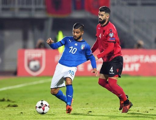 المنتخب الإيطالي يهزم نظيره الألباني بهدف يتيم