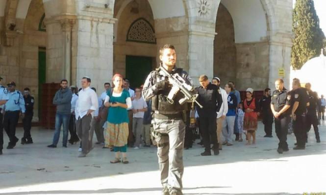 312 مستوطنا يقتحمون المسجد الأقصى صباح اليوم