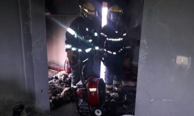 عبلين: إصابة شخص في حريق بمنزل