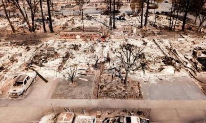23 قتيلا وتدمير 3500 مبنى جراء حرائق  كاليفورنيا