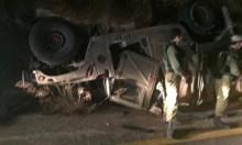إصابة 4 جنود إسرائيليين بانقلاب جيب عسكري