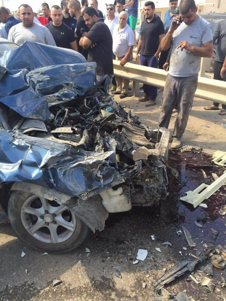 الطيبة: إصابتان في حادث بين شاحنة وسيارة خصوصية