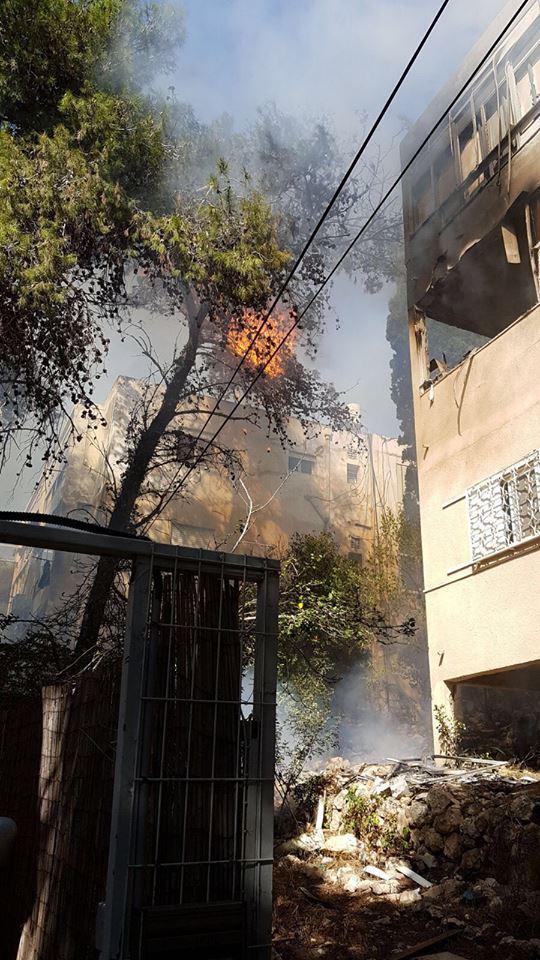 حيفا: إصابتان في حريق