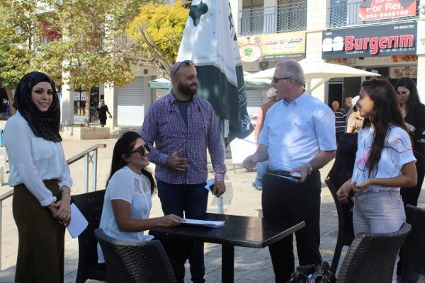 الناصرة: منافسة وخطابات في ساحة العين