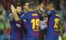 برشلونة يفوز على أوليمبياكوس بثلاثية لهدف