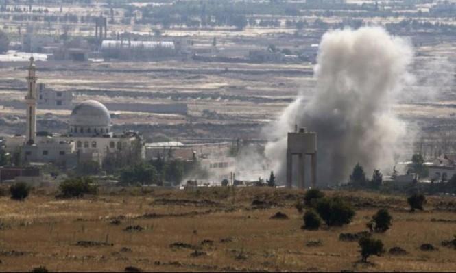 الجيش الإسرائيلي يقصف بسورية إثر سقوط قذيفة بالجولان المحتل