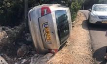 دير الأسد: إصابة سائق إثر انقلاب سيارته