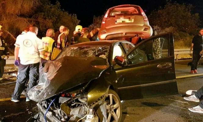 الجليل: 5 إصابات بينها خطيرة بحادث طرق