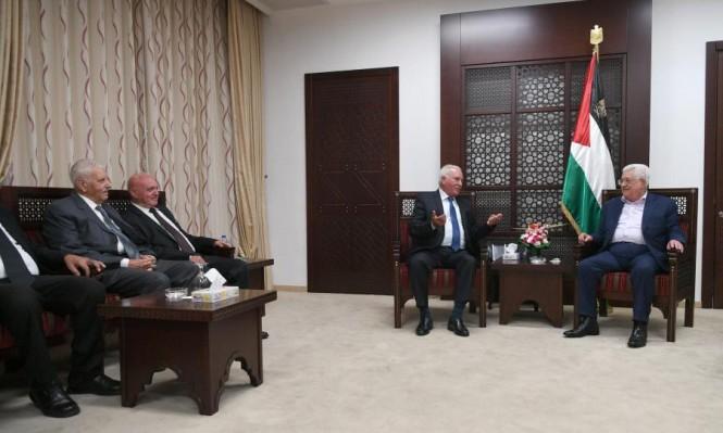 لجنة الوفاق تجتمع الرئيس الفلسطيني في رام الله