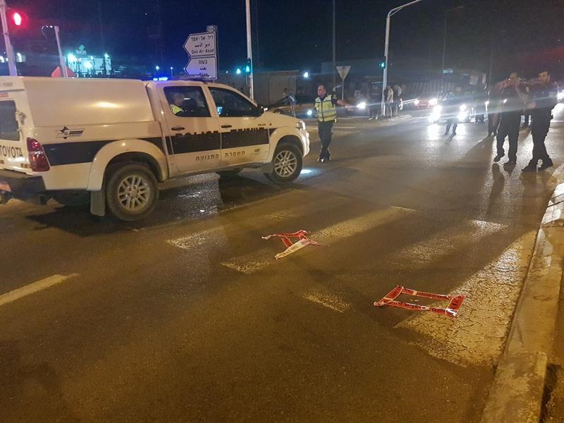 طعن شرطي وسرقة سلاحه على مفرق البعنة دير الأسد