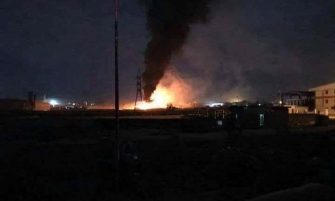 غارة إسرائيلية تستهدف المدينة الصناعية بريف حمص