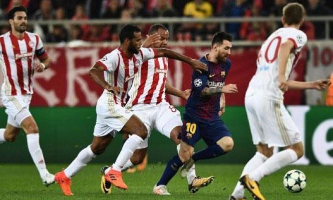 برشلونة يتعادل سلبيا أمام أوليمبياكوس