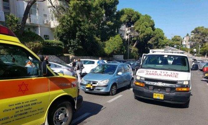 حيفا: إصابة امرأة في حادث دهس