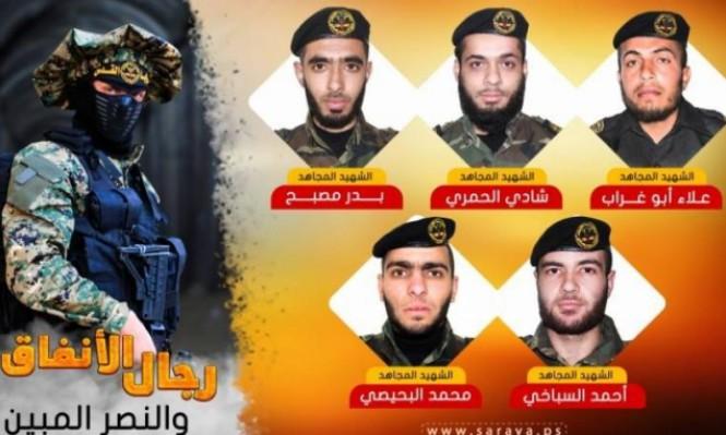 الجهاد الإسلامي تعلن استشهاد 5 مقاتليها المفقودين بالنفق