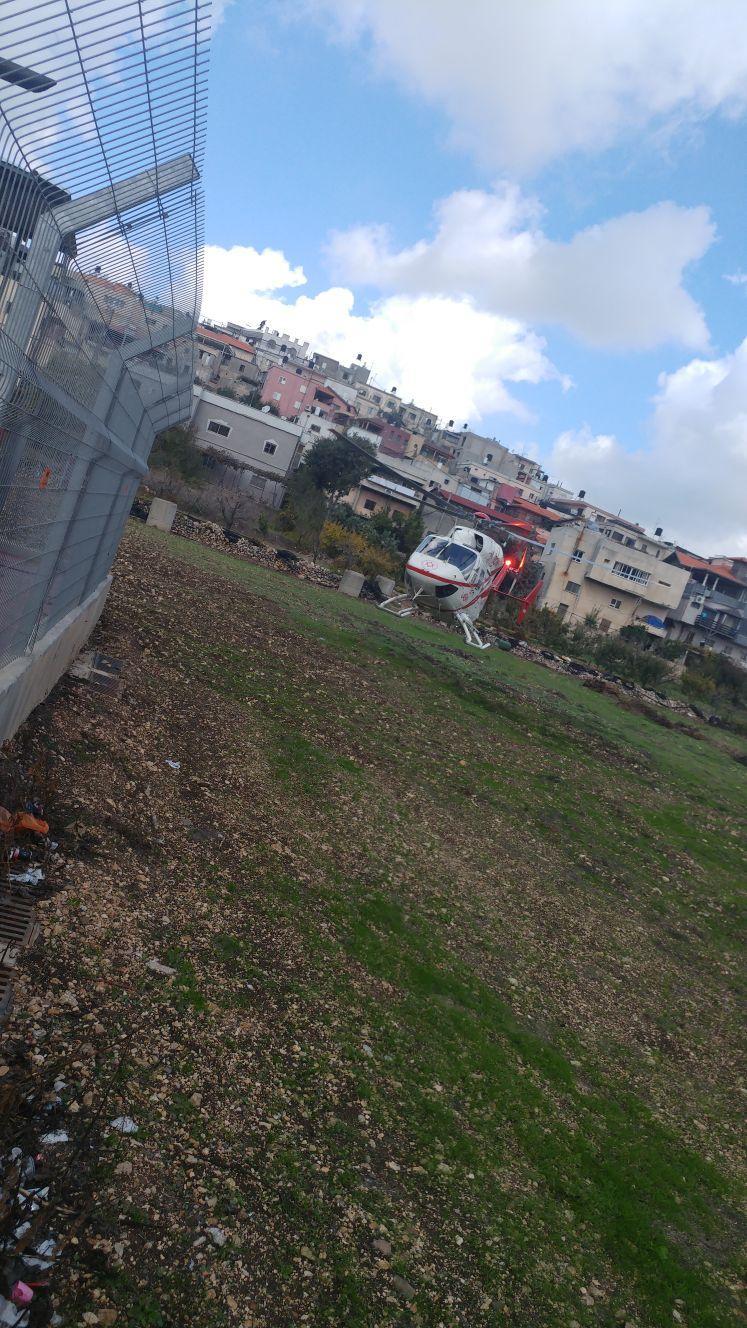 بيت جن: إصابة خطيرة في انقلاب جرار زراعي