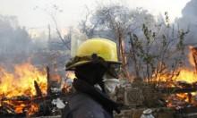 عسفيا: اتهام شخص بإضرام النار في أحراش الكرمل