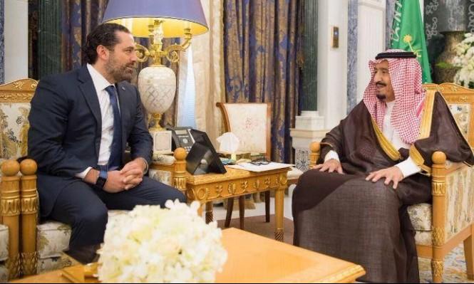 الملك سلمان يلتقي بالحريري بقصر اليمامة