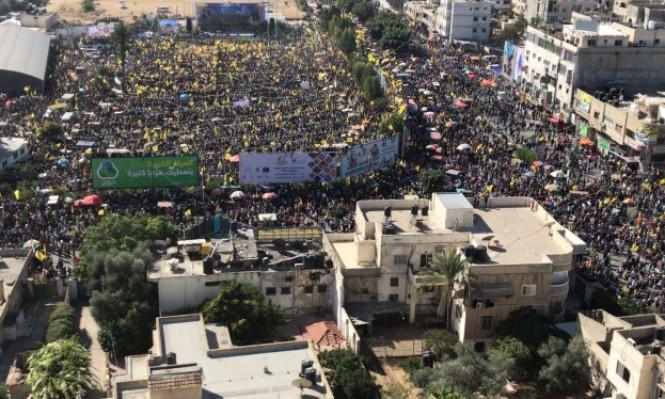 مئات الآلاف يحيون بغزة ذكرى استشهاد عرفات