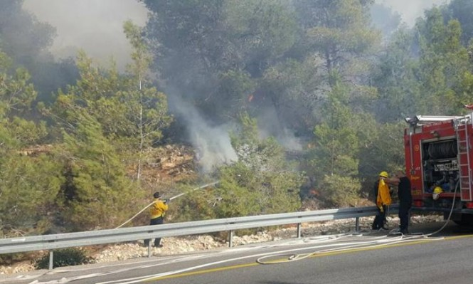 برطعة: حريق هائل في المنطقة الحرشية