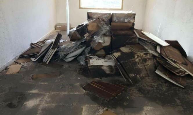 رهط: جناة يحرقون 4 صفوف قبل افتتاح مدرسة بأسبوع