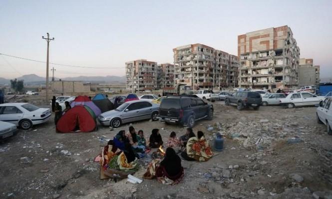 سكان حلبجة ينامون في العراء بعد أن جردهم الزلزال من بيوتهم