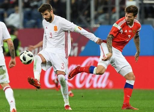 تعادل ودي مثير بين روسيا وإسبانيا