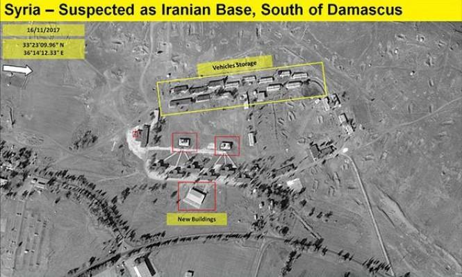 قمر صناعي يظهر القاعدة الإيرانية القريبة من الحدود الإسرائيلية