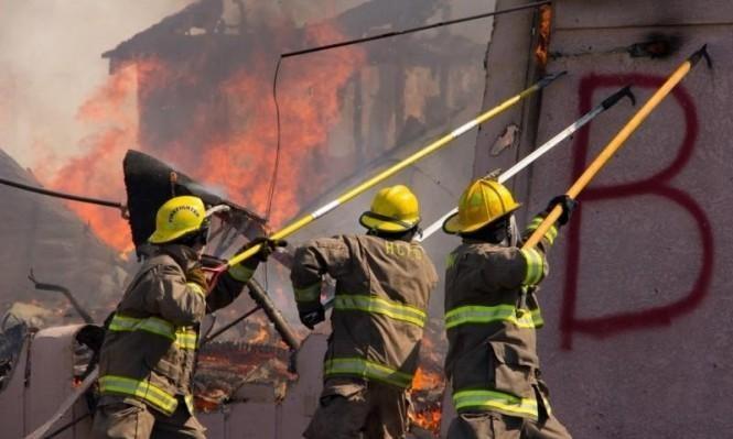 اندلاع حريق في مقصورتين خشبيتين في دير حنا