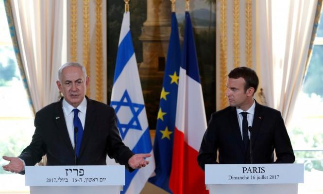 نتنياهو وماكرون يبحثان الأزمة اللبنانية إثر استقالة الحريري