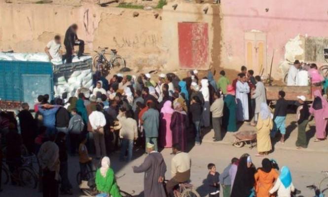 مصرع 15 مغربيًا بتدافع خلال توزيع مساعدات غذائية